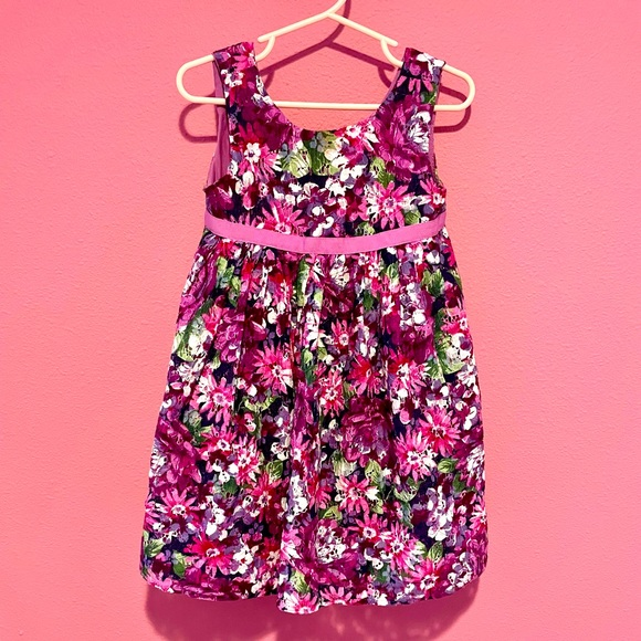 GYMBOREE 3T PURPLISH FLOWERY DRESS